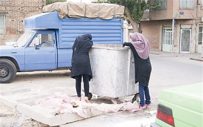 Iran: Poverty forces more women to dig through garbage