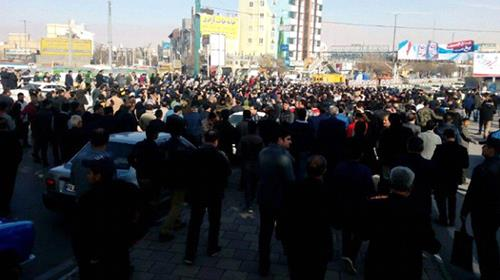 Major protest erupts in Iranian cities