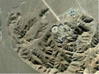 Satellite image of Fordo site near city of Qom, central Iran